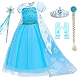 Includes dress,tiara,wand,wig,gloves. There are lots of sequins in front of the chest, which are very attractive to girls. Rich accessories, your little princess will love it Made from non-itchy and comfortable fabric,3 layers fluffy skirt. Great for...