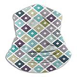 100% Polyester Bandanas Print Headband Cowboy Scarfs, Modern Seamless Triangle White