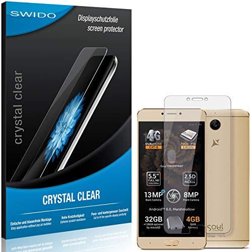 SWIDO Bildschirmschutzfolie für Allview X3 Soul Plus [3 Stück] Kristall-Klar, Extrem Kratzfest, Schutz vor Öl, Staub & Kratzer/Folie, Glasfolie, Bildschirmschutz, Schutzfolie, Panzerfolie