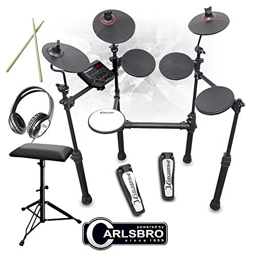 Carlsbro CSD100 R-PLUS Electronic Drum Kit 7 Piece Digital Set Stool and...