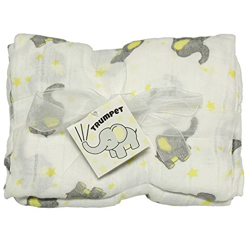 Imagine Baby Products cobertor de cueiro de bambu, trompete
