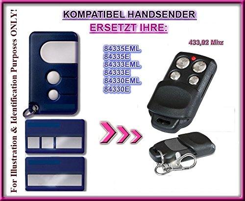 Chamberlain 84335EML, 84335E, 84333EML, 84333E, 84330EML, 84330E kompatibel handsender, ersatz sender, 433.92Mhz rolling code. Top Qualität ersatzgerät!!!