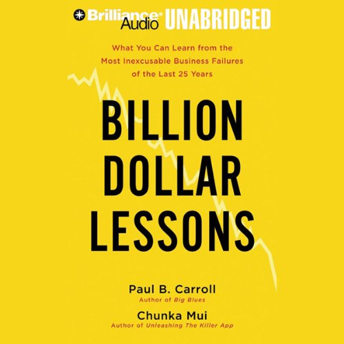 Billion Dollar Lessons audiobook cover art