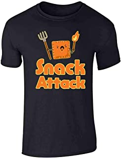 Pop Threads Snack Attack Funny Cute Graphic Tee T-Shirt for Men