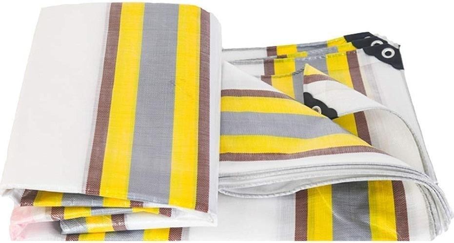 DJSMpb Baches Baches épaissies imperméables à la Pluie Tarpaulintightly Woven PE Linoleum Tarps Sunscreen de 0,38 mm d'épaisseur, bache 210g   m2 (Taille   5  6m)