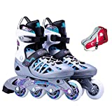 Inline Skates with Detachable Brakes, Adjustable Size Roller Skates, Choice of Outdoor Sports for Clubs, Fun for Couples to Exercise Together, for Teenager College Students,Purple-M(37-40)