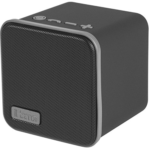 iHome iBT56 Portable Bluetooth Speaker with Speakerphone with 8 Hour Rechargeable Battery (Black/Gray)