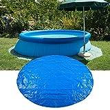 Paño para el suelo de la piscina, forma redonda PE Impermeable a prueba de lluvia y polvo Cubierta de la piscina Paño protector Accesorios para piscinas Azul (280 cm)