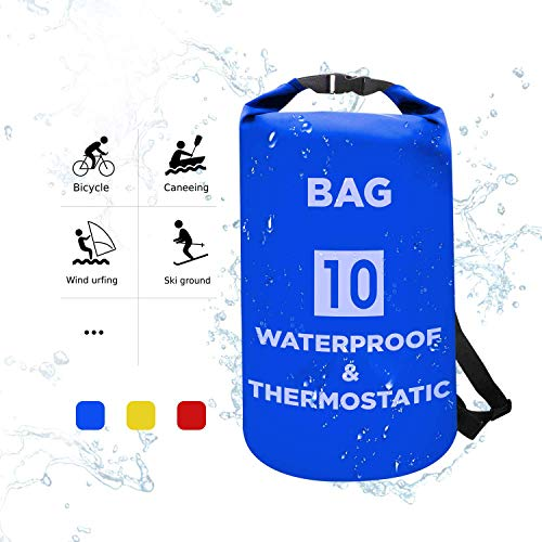 Skyfish® 10 L Waterproof Dry Bag for Outdoor Sports, Swimming and Camping- Multi Color