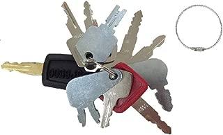 10 Keys Heavy Equipment / Construction Key Set John Deere, Fiat, Case, New Holland, Hitachi,Bobcat,Caterpiller more Brand abc_zok