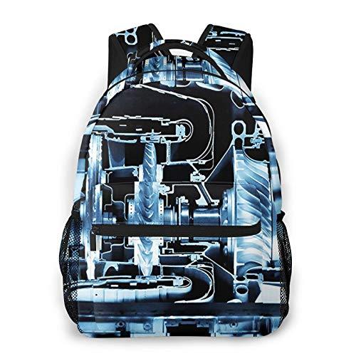 USGYY Rucksack Männer Damen Strahltriebwerk 4, Laptop Rucksäcke, Kinderrucksack Schulrucksack Daypack für Jungen Mädchen
