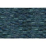 GREAT ART® Fototapete – 3D Effekt Black Stonewall – Wandbild Dekoration Tapete in Steinoptik schwarz Steinwand Wohnzimmer 3D Tapete Stein Foto-Tapete Wandtapete (336 x 236 cm)