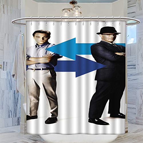 DRAGON VINES Catch Me If You Can - Cortina de ducha (183 x 183 cm, impermeable, antimoho, con 12 ganchos de plástico, lavable
