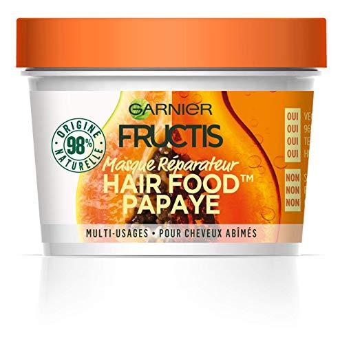 Garnier Fructis Masque Réparateur Multi-Usages Papaye, Pour Cheveux Abîmés, 390 ml