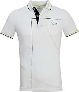 5b458730 Hugo Boss Mens Polo Paddy MK1 50403516 100 White