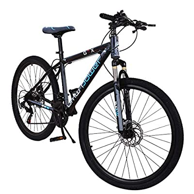 21 Speed Junior Aluminum Road Bikes, 26 inch Full Mountain Bike, Hybrid Bicycle Comfort Cycle, Cycling Equipment for Adults and Teenagers (Black)