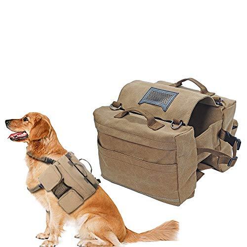 Festnight Hundewanderrucksack Hundesattel Rucksack Hundecamping Wandertasche Hundecampingzubehör Reise Wandern Außenbereich für mittelgroße Hunde