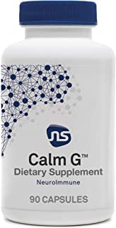 NeuroScience Calm G - Glutamate-Focused Supplement with L-Theanine, Folate + CoQ10 - Brain Support Blend to Promote Stress...