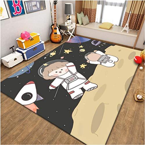 Carpet Short Pile Living Room Bedroom Dining Room Cartoons Anime Astronaut Hallway Children Game Rugs Nursery Home Decoration Floor Anti-Slip