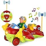 GotechoD Voiture télécommandée, Jouet Avion Radiocommandée RC Voiture avec Musique et lumière,Cadeau Parfait bébé...