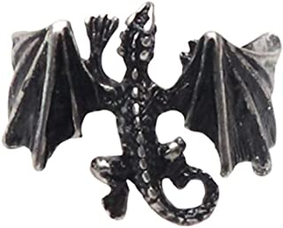 Ailiessy Dragon Open Rings for Men Punk Bike Dragon Animal Finger Rings Halloween Decor Jewelry Gifts