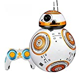 Ycco Actualice 20.5cm Niños Robot de control remoto BB-8 Ball RC Juguetes inteligentes Car Ball Robot 2.4G BB8 Con sonido Figura de acción magnética Robot BB 8 Juguetes de regalo para interiores y ext