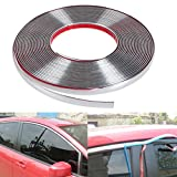 Dhe Best BD-G2 Car Window Door Edge Guard Beading Roll Chrome Size 15mm Meter 10 for Tata Tiago