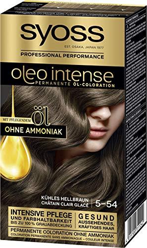 Syoss Oleo Intense Permanente Öl-Coloration 5-54 Kühles Hellbraun, mit pflegendem Öl & ohne Ammoniak, 3er Pack(3 x 115 ml)