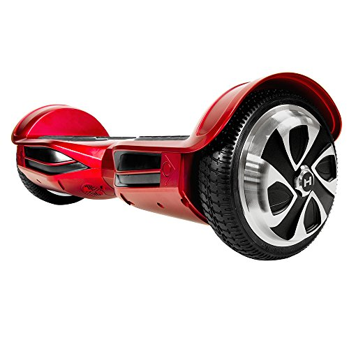 HOVERZON App-Enabled XLS Series Bluetooth Hoverboard with Speakers Self Balance Scooter; Dual Power 250W Motor (Red)