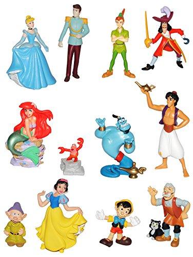 alles-meine.de GmbH 1 Stück: Figur / Sammelfigur - Disney Prinzessin / Filme - aus Schneewittchen / Cinderella / Pinocchio / Arielle / Aladdin u. die Wunderlampe / Peter Pan - Bu..