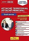 Concours Attaché territorial - Catégorie A - Tout-en-un -Concours externe, interne, 3e voie et examen professionnel 2020-2021
