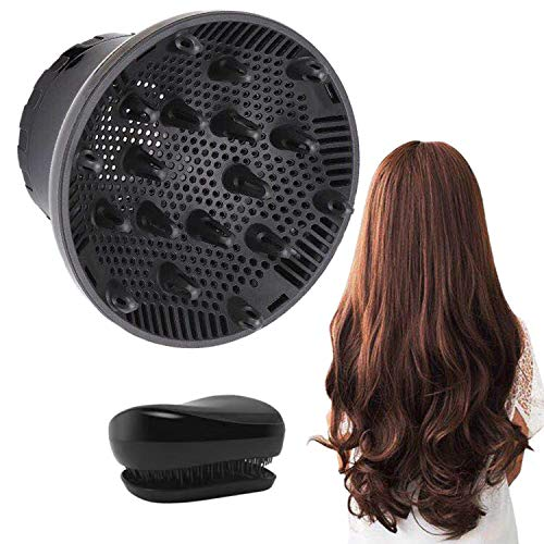 Hair Diffuser, Diffuser Hair Dryer Hair Diffuser Attachment for Curly Hair Suitable for 1.4-inch to 2.6-inch for Dryer Nozzle Professional Blow Dryer for Fine Thick Curly Frizzy and Wavy Hair