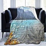 Elsaone Park Plants Manta Ultra Suave Manta de Cama Ligera Manta de sofá para Hombres Mujeres Niños 204 x 153 cm / 80 x 60 Pulgadas