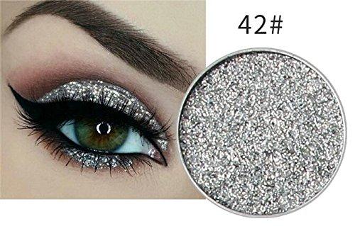 Glitzer Lidschatten Pressed Glitter Eyeshadow Nr. 42 silber