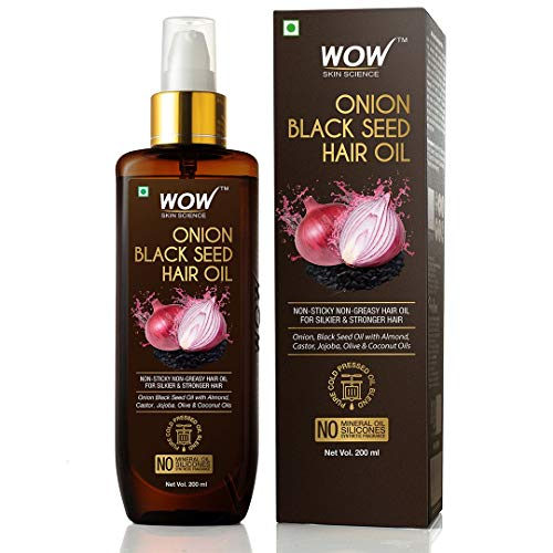 WOW Onion Black Seed Hair Oil for Natural Hair Care and Growth, Essential Vitamins In Almond,...