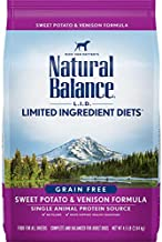 Natural Balance L.I.D. Limited Ingredient Diets Dry Dog Food, Sweet Potato & Venison Formula, 4.5 Pounds, Grain Free