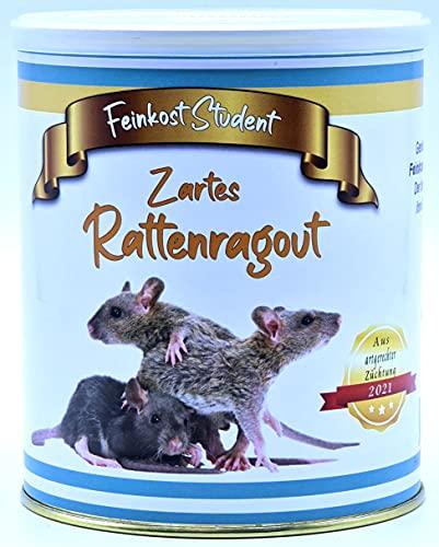 Zartes Rattenragout aus der Dose Scherzarktikel, Lustige Geschenkidee, Party-Brüller, Spaßgeschenk, Geburtstagsgeschenk