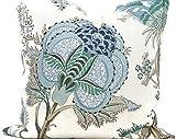 Funda de almohada de pavo real indio Arbre Lumbar Turquesa Verde y Azul Floral Funda de Almohada Lanzamiento Almohada Acento...