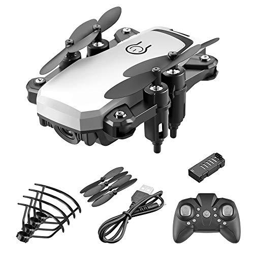 Opvouwbare drone Mini optische stroompositionering Afstandsbediening Vliegtuigen 4K HD Camera Antenne Vierassige vliegtuigen Antenne, Afstandsbediening Vliegtuigspeelgoed Makkelijk te gebruiken,White