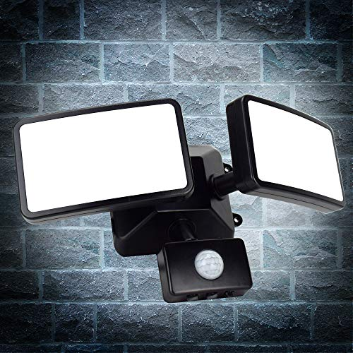 Photo of 20W LED PIR Security Light with Motion Sensor,Waterproof IP66,Daylight White,1600LM,Outdoor Twin Security LED Flood Light,Porch Spotlights Ideal for Yard,Garage,Porch,Parking Lot