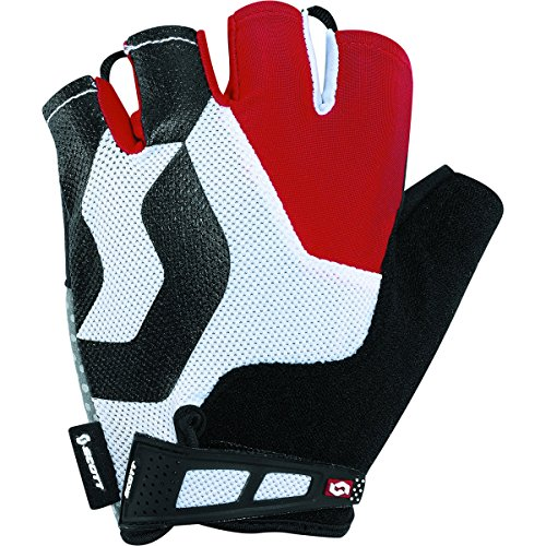 Scott Sports Mens Essential Short Finger Cycling Gloves - 227992 (Black/red - XS)