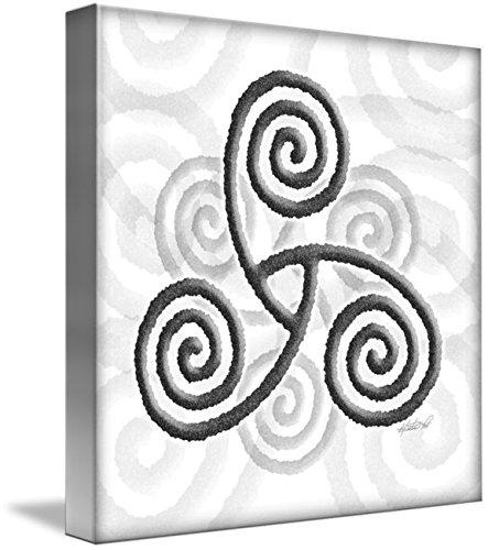 Wall Art Print entitled Celtic Triple Spiral by Kristen Fox