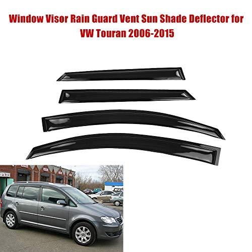 Fesjoy Fensterabdeckung Regenschutz Vent Sun Shade Deflector für VW Touran 2006-2015 Windabweiser
