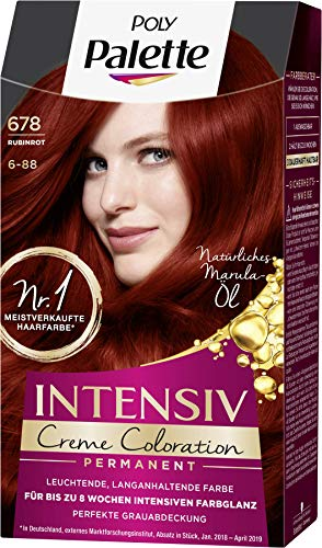 SCHWARZKOPF POLY PALETTE Intensiv Creme Coloration 678/6-88 Rubinrot, 3er Pack (3 x 128 ml)