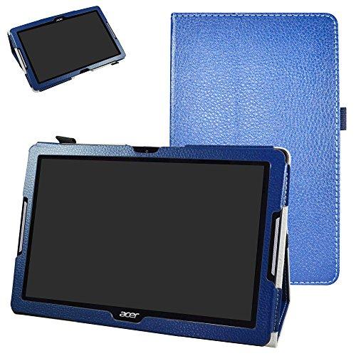 """MAMA MOUTH Acer Iconia One 10 B3-A30 Custodia, Slim Sottile di Peso Leggero con Supporto in Piedi Caso Case per 10.1"""" Acer Iconia One 10 B3-A30 Android Tablet,Blu Scuro"""