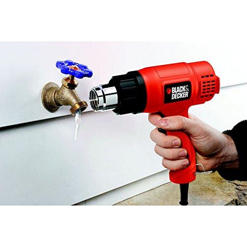 BLACK+DECKER KX1650-QS Décapeur Thermique Filaire - Débit de 570 à 740 L/min - Poignée Pistolet - Livré avec Un Grattoir 1750W, Rouge