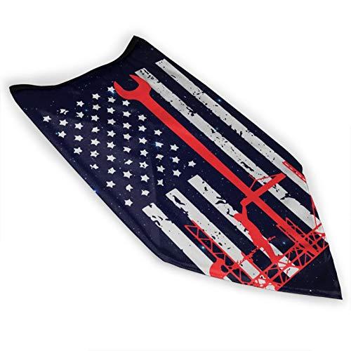 Ironworker America Flag Men Women Neck Gaiters Magic Scarf Adult Wrist Brace for Gardening