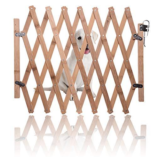 Ausziehbarer Zaun, Haustiergitter, Haustierzaun mobil und beweglicher Zaun, einziehbare Hundetür für den Innenbereich, faltbares Haustier Sicherheitsgitter Türzaun für kleine und mittelgroße Hunde