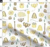 Honigbiene, Honig, Biene, Küche Stoffe - Individuell