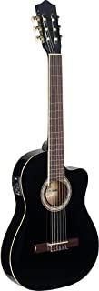 Stagg C546TCE BK Cutaway Acoustic-Electric Classical Guitar - Black